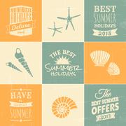 Summertime design collection Stock Illustration