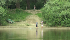 Desna river Stock Footage