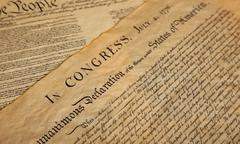 declaration of independence - stock photo