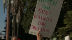 """No Justice No Peace"" Rally Sign Stock Footage"