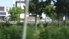 View from a moving vehicle driving on motorway in Antalya region Stock Footage