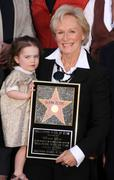 glenn close honored with star on the hollywood walk of fame - stock photo