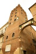 historic architecture in verona. - stock photo