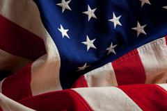 An american flag background Stock Photos