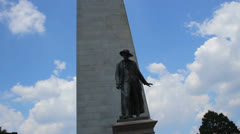Bunker Hill Monument Stock Footage