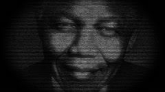 Stock Video Footage of Nelson Mandela, animation