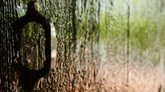 Detail of a typical andalusian door Stock Footage