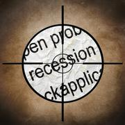 Stock Illustration of recession target concept