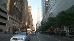 Traffic on 34th Street, New York, NY Stock Footage