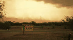 HD 30p waiting for haboob to move on while parked safely - part 1 Stock Footage