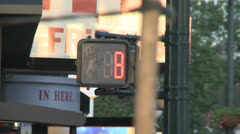 Countdown of Pedestrian Crossing sign Stock Footage