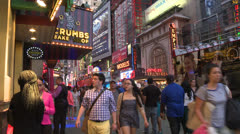 Crowd in Times Square Stock Footage