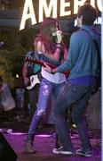 ashley tisdale performs at the americana - stock photo