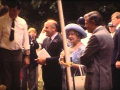 Super 8 official visit of the Queen Elizabeth Stock Footage