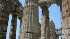Pillars of an Ancient Greek Temple - 29,97FPS NTSC Stock Footage