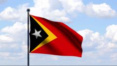Animated Flag of Timor-Leste Stock Footage