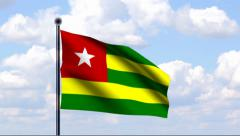 Animated Flag of Togo Stock Footage