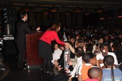 4  november 2008, century city - california, barack obama election wining dem - stock photo