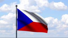 Animated Flag of Czech Republic Stock Footage