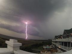 Lightning Strike in Outer Banks, NC Stock Photos