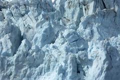 Blue glacier ice crevasse Stock Photos