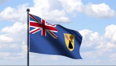 Animated Flag of Turks and Caicos Islands Stock Footage