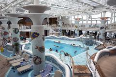 Cruise ship resort swimming pool passengers Stock Photos