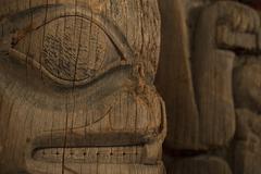 Historic Indian Totem Pole Alaska Stock Photos