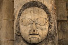 Historic old Alaska Indian Totem Pole Stock Photos