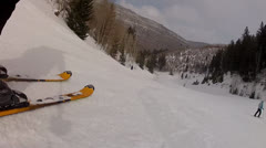 downhill skiing very fast - stock footage