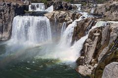 Shoshone Falls Rainbow Snake River Idaho Stock Photos
