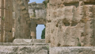 Stock Video Footage of Close up Collumn Ancient Greek Temple II