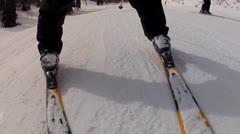 Skier skiing in circles Stock Footage