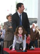 adam sandler receives star on the hollywood walk of fame - stock photo
