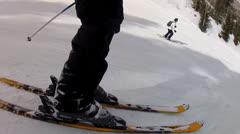 Man on skis Stock Footage