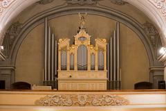 organ in church - stock photo
