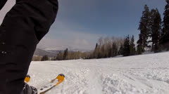 trick skiing - stock footage