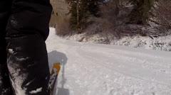 skiing through people - stock footage