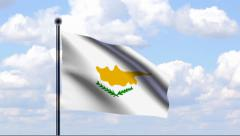 Stock Video Footage of Animated Flag of Cyprus