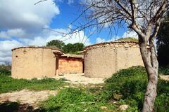 Lempa Chalcolithic Experimental Village Cyprus Stock Photos
