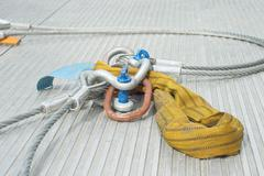 industrial cable with shackle - stock photo