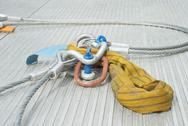 Stock Photo of industrial cable with shackle