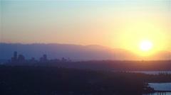 Stock Video Footage of Seattle Sunset
