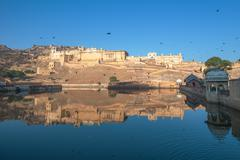 amber fort, jaipur, india - stock photo