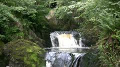 Multi level waterfall - stock footage