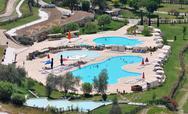 Pamukkale pool Stock Photos