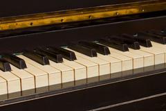 Vintage piano keyboard Stock Photos