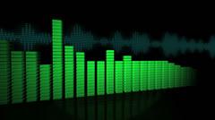 3D VU Meters 4k - stock footage