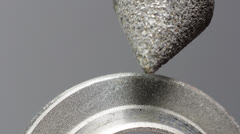 Grinding round metal part. - stock footage