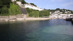 Looe River Cornwall England PAN Stock Footage